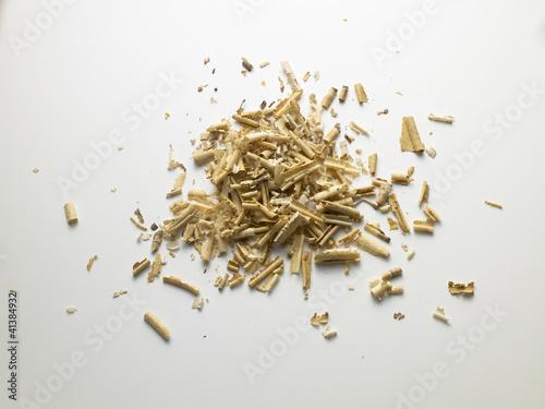 Valokuvatapetti wood chips - trucioli di legno