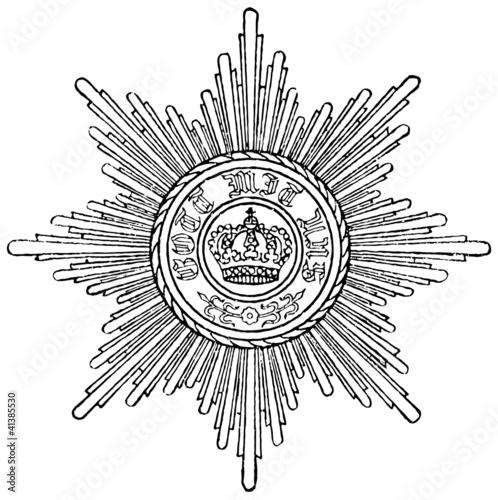 Fotografie, Obraz  Order of Merit of the Prussian Crown (Prussia, 1901)