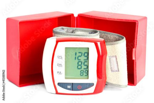 Fotografie, Obraz  Blood pressure meter with a box