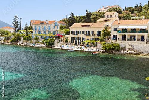 Traditional village of Fiscardo at Kefalonia island Wallpaper Mural