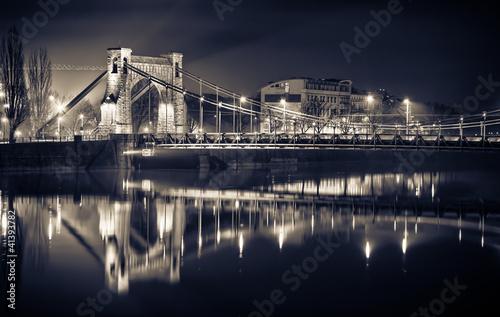 Staande foto Bruggen Grunwaldzki Bridge in Wroclaw