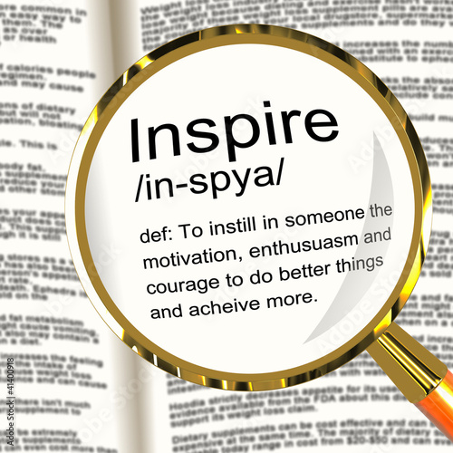 Photo  Inspire Definition Magnifier Showing Motivation Encouragement An