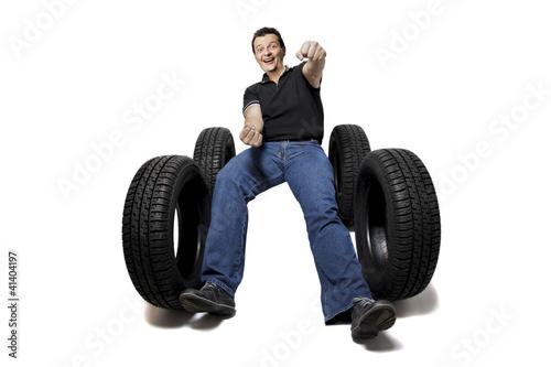 Fotografie, Obraz  Got new tires?