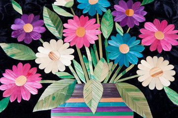Fototapeta folk flower