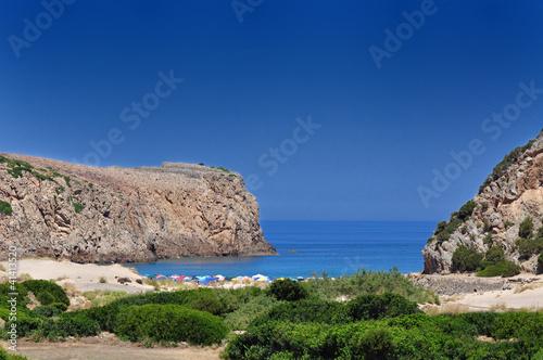 Sardegna, Buggerru, spiaggia di Cala Domestica Canvas Print