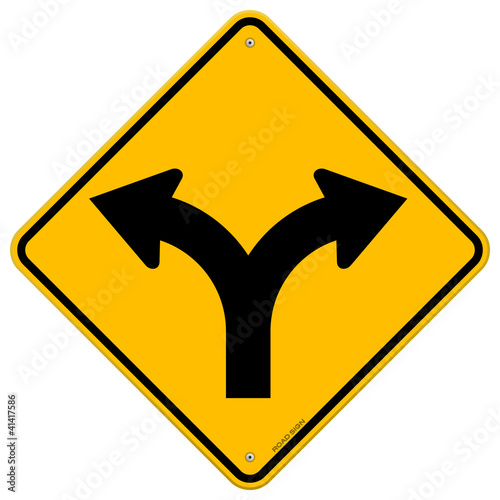 Fotografia, Obraz  Fork in Road Sign