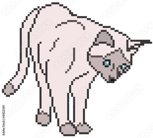 Foto op Aluminium Pixel Pixel Cat - vector illustration