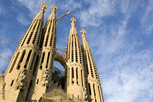 Papiers peints Barcelona Sagrada Familia Passion façade horizontal view