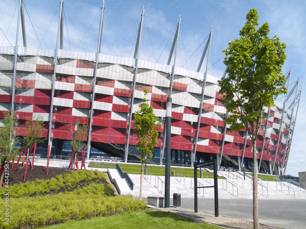 Fototapeta National stadium, Warsaw, Poland