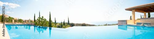 Fototapeta Luxury swimming pool. Panoramic image obraz