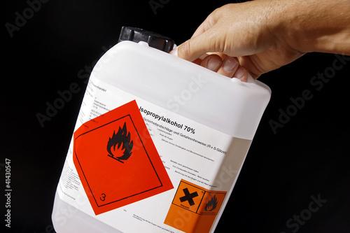 Photo Brennbare Flüssigkeit Gefahrgut