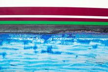 Blue Grunge Antifouling Paint On Boat Side