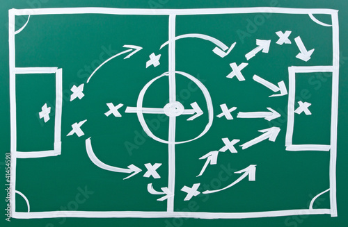 Fotografía  Fussball Taktik - Soccer Tactics