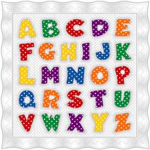 Alphabet Baby Quilt, Gingham C...