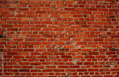 In de dag Wand Red brick wall