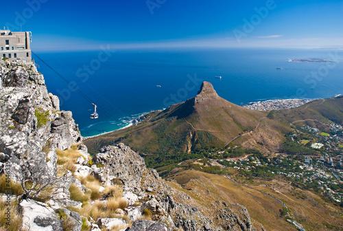 La pose en embrasure Afrique du Sud Table Mountain cable car
