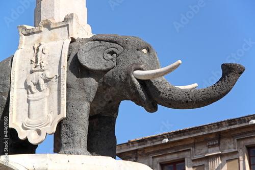 Stampa su Tela The Elephant, symbol of Catania, Italy