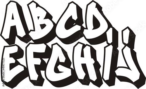 Photo sur Aluminium Graffiti vector graffiti font alphabet (part 1)
