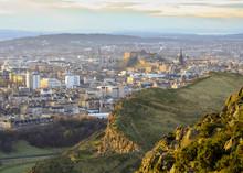 Edinburgh Cityscape From Arthu...