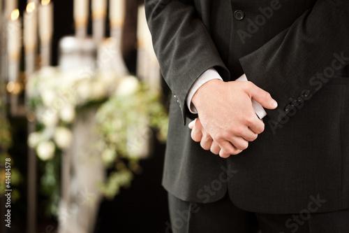 Tablou Canvas Trauerhilfe - Bestattung und Beerdigung