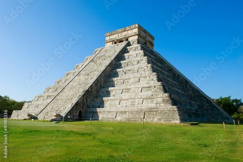 In de dag Mexico Mayan Pyramid Chichen Itza, Mexico