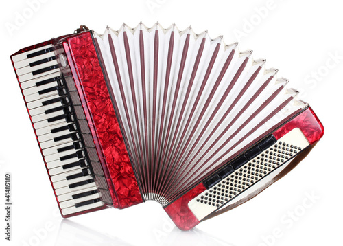 Fotomural Retro accordion isolated on white