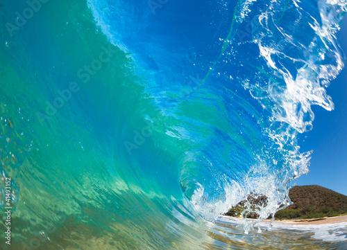 Autocollant pour porte Eau Beautiful Sunny Blue Wave