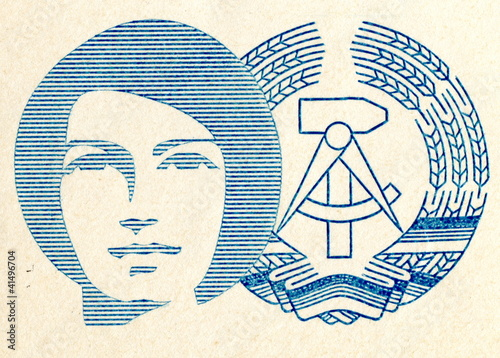Detail of german cover 2. Women's congress of GDR Tablou Canvas