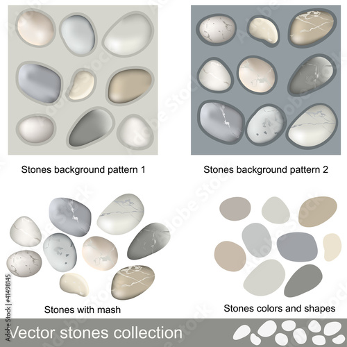 Fotografie, Obraz  Vector stones