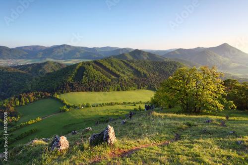Slovakia spring landscape in mountain