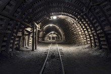 Underground Tunnel In The Coal...