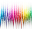 canvas print picture - Abstract rainbow colours on a white background spectrum