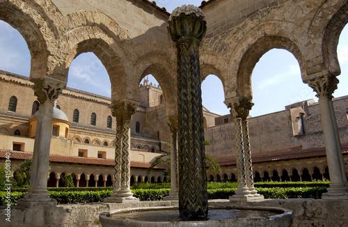 In de dag Cattedrale di Monreale, Palermo,Sicilia