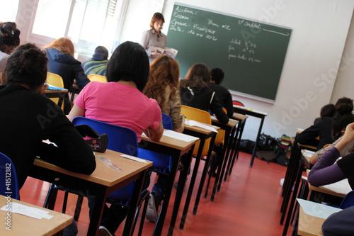 Fotografie, Obraz  Salle de classe, salle d'examen