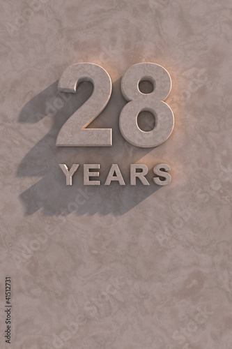 Fotografia  28 years 3d text