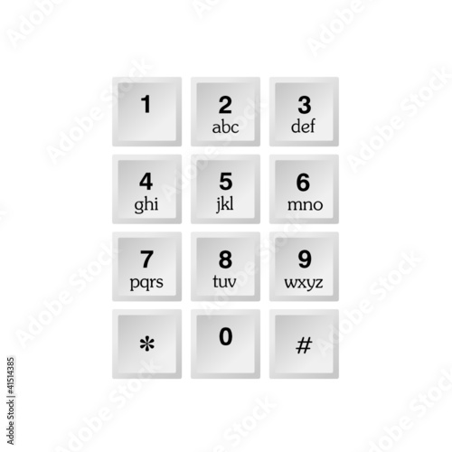Alphabet Keyboard Vector Ilration