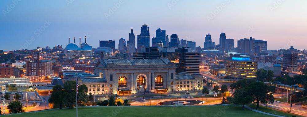 Fototapety, obrazy: Kansas City skyline panorama.