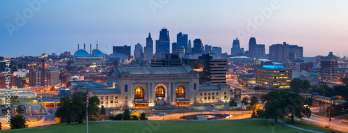 Kansas City skyline panorama. Canvas Print