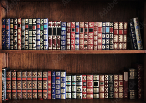 Photo Estantería llena de libros
