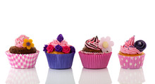 Colorful Row Cupcakes