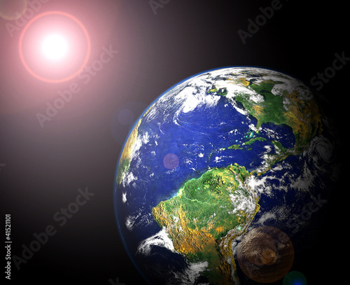Fototapety, obrazy: earth and sun