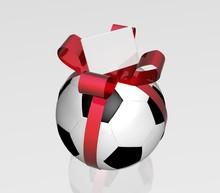 Pallone Da Calcio Con Fiocco R...