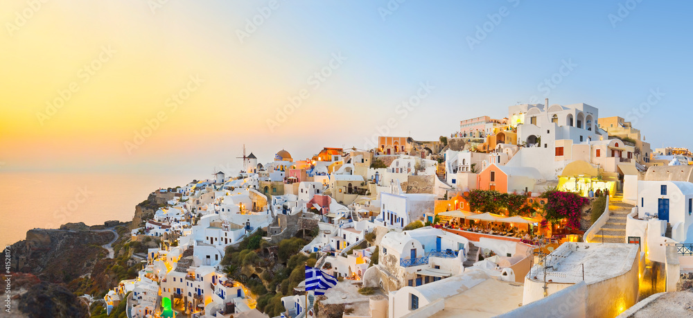 Fototapety, obrazy: Santorini sunset (Oia) - Greece