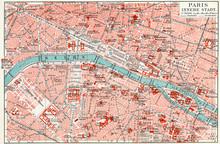 Map Of Central Paris.