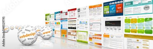 Fotografie, Obraz  Webdesign, 3D, Kugel, Website, Homepage, Design, Template, SEO