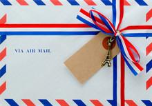 封筒とリボン