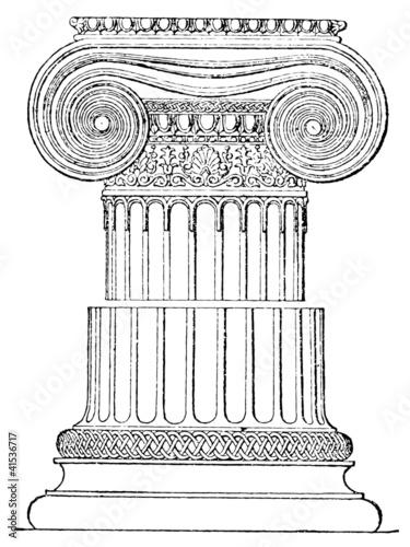 Foto op Aluminium Bedehuis Ionic order. Temple of Athena. Athens.