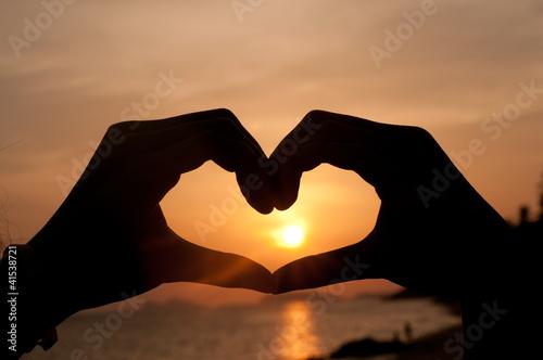 einzelne bedruckte Lamellen - Silhouette Heart from hand (von Atip R)