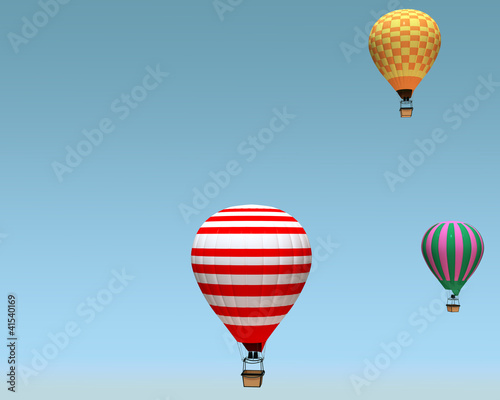 Photo a group of hot air balloon on a blue background