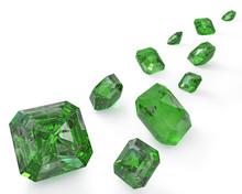 Path Of Green Emeralds
